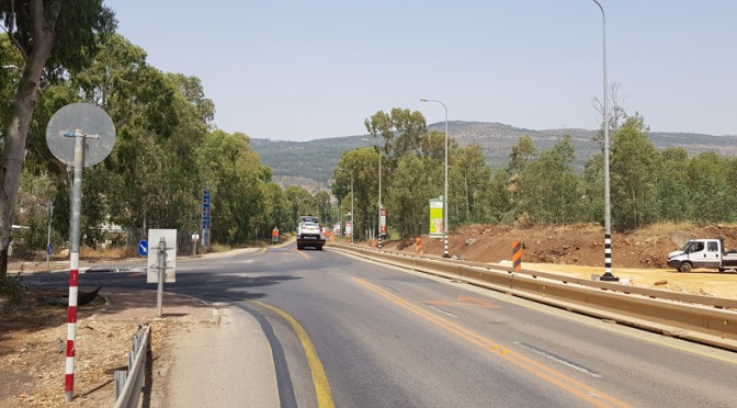 כביש-קריית-שמונה-עבודות-בכביש