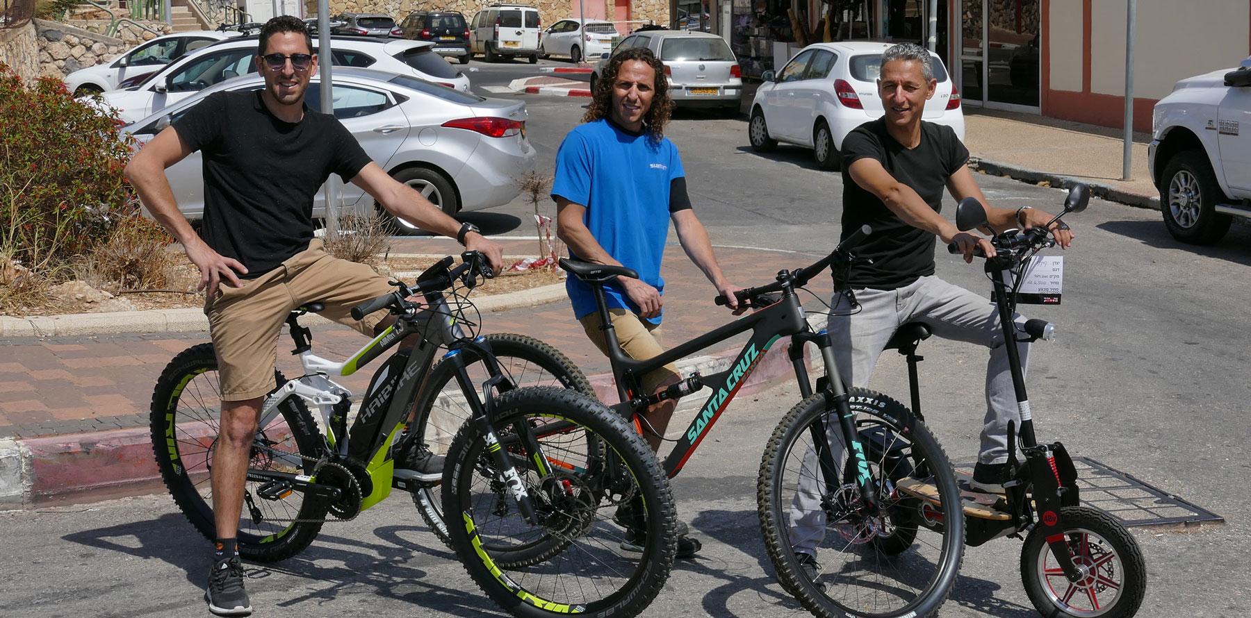 אופניים חשמליים בקריית שמונה